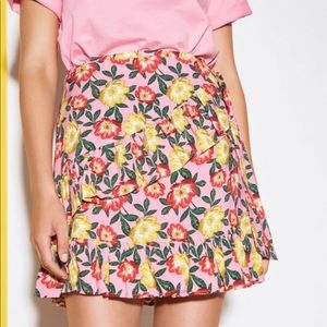 THE FIFTH Reunion Floral Wrap Skirt PINK
